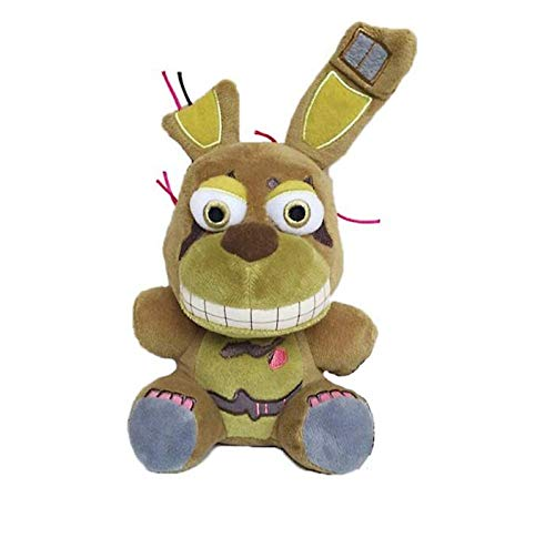 XUPAI FNAF Plush - Freddy Plush -All Characters(7') - Five Nights Freddy's Plush: Springtrap, Foxy, Bonnie, RABIT, Marionette, Chica Plush - Kids Doll-Gifts for FNAF Fan(Chica) (Springtrap)