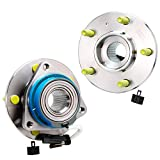 Detroit Axle - 5 Lug Front or Rear Wheel Hub and Bearing Assembly Replacement for Buick Century Regal Chevy Impala Monte Carlo Cadillac DTS Deville Seville - 2pc Set