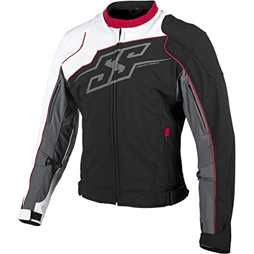 Speed and Strength Hammer Down Textile Men's Street Motorcycle Jackets - White/Red