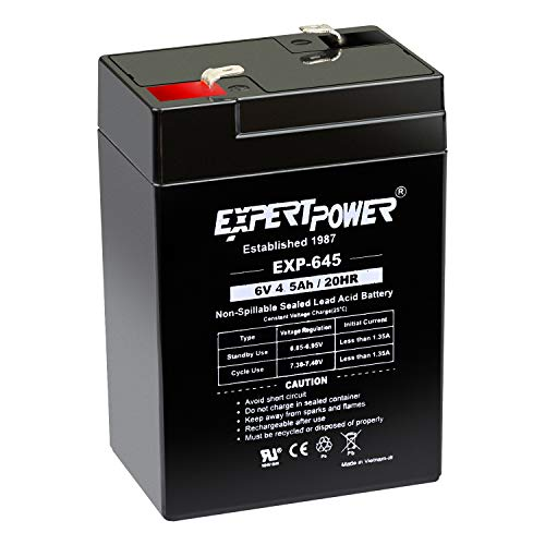 ExpertPower 6 Volt 4.5 Amp Rechargeable Battery (EXP645)