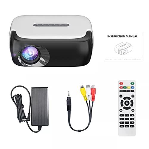 Proyector 1080P, Mini Máquina De Proyección De Películas Portátiles LED, 640 * 360 Píxeles, con Interfaces HDMI/USB/AV/Audio, para El Cine En Casa