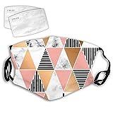 Formas geométricas Cara Boca Ajustable Cubierta de polvo reutilizable de doble capa para hombres y mujeres Formas geométricas