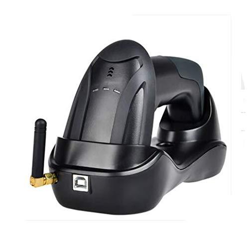 BTASS Scanner de Code à Barres sans Fil, (2 en 1 2.4GHz sans Fil et USB 2.0 câblé Connexion) 1D Lecteur de Code à Barres Automatique de Laser de la pour Magasin, Supermarché, Entrepôt