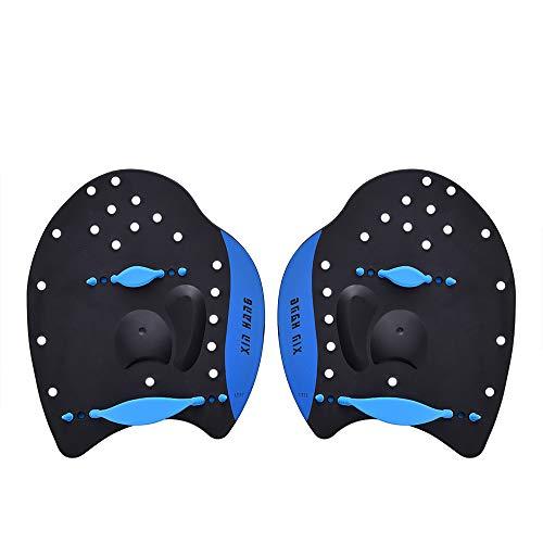 Ationgle Swim Training Paddles Medium - Hand Paddles Power Paddles Swimming Training Aid with Adjustable Strap for Men Women Children