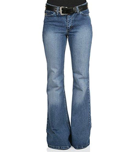 Comycom Damen Jeans Schlaghose Star Used Washed Reloaded 32/30