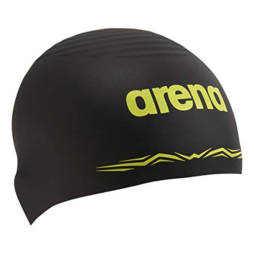 arena(アリーナ) 水泳 スイミングキャップ シリコンキャップ(AQUAFORCE WAVE CAP) ARN-0900 BLK(ブラック) L