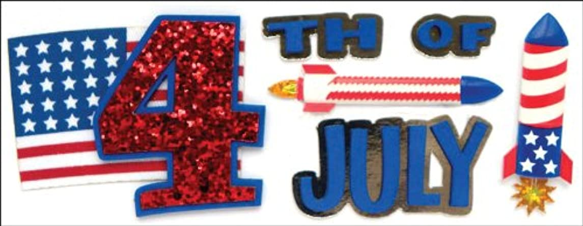 Jolee's Boutique Dimensional Title Stickers, July 4th