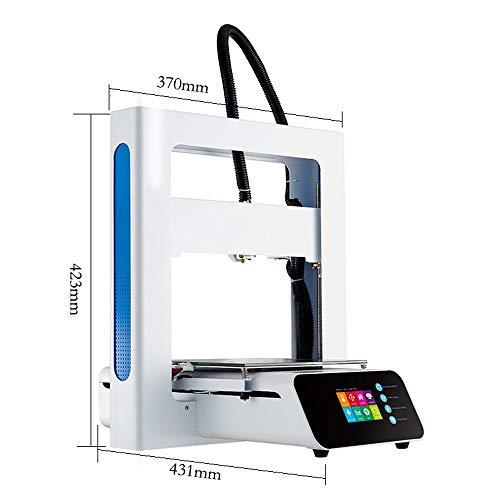 LPLHJD Imprimante 3D A3S 3D Printer Entièrement Facile d'assemblage Facile en métal Haute précision 205 * 205 * 205mm Taille de Construction avec des Cadeaux gratuits