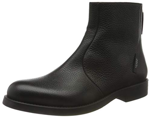 HUGO Damen Vicky Biker-LG Mode-Stiefel, Black1, 41 EU