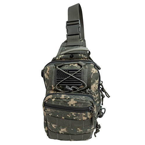 Military Army Tactical Backpack Combat 3 Day Assault Pack Molle Bag Rucksacks Camping Hunting with Flag Patches (BLACK 544, 40L)