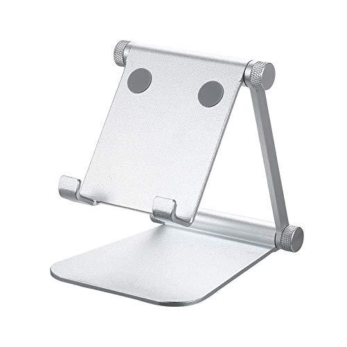 Teléfono ajustable Ángulo Ajustable Tableta Tablet Soporte Soporte Doble Plegable Aleación de aluminio Soporte plegable Soporte de teléfono celular Soporte de teléfono Llamada Montaje manos libres (Ta