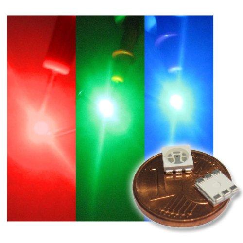 world-trading-net 20 x SMD LED Bauart 5050 RGB 3-Chip mit 3 Farben