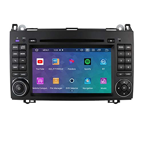 Android 10 Navegación GPS estéreo para automóvil de 7 Pulgadas Compatible con Mercedes-Benz W169 W245 W639 Sprinter 3000 VW Crafter Bluetooth Music Radio USB WiFi CANBUS