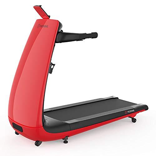 ZTHJSM Cinta de correr plegable, pantalla LCD, para el hogar, ultrasilenciosa, pequeña para el hogar, interior, gimnasio, cinta de correr, color rojo