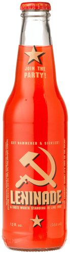 "Leninade SURPRISINGLY SATISFYING SIMPLE SOVIET-STYLE SODA -  ""Na Zdoroviye"", 12-Ounce Glass Bottle (Pack of 12)"
