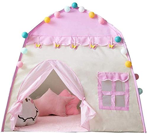 Kids Play Tent, Kasteel van de prinses Tent Grote Playhouse Kids Castle Play Tent 1-6 jaar Kinderen Indoor Toy House Kids Pop Up Tent 51.1851.18in for meisjes Verjaardagscadeau dmqpp