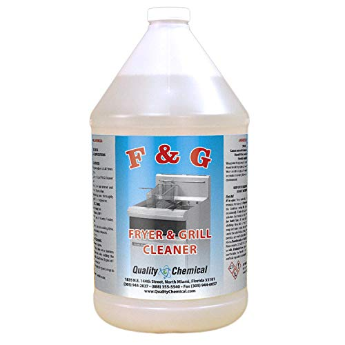 Commercial Fryer and Grill/Griddle Cleaner - Mixture of liquid Caustic Soda. Super Strong !-1 gallon (128 oz.)