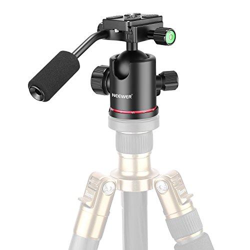 Neewer Heavy Duty Kamera Stativ Kugelkopf mit Griff und 1/4 Zoll Schnellspanner Platte, 360-Grad Panorama-Kopf für Stativ, Schieber, DSLR-Kamera, Tragkraft bis zu 8 Kilogramm