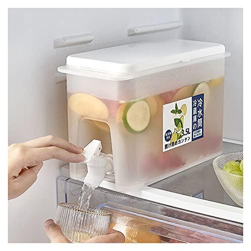 Hervidor de Agua fría con Grifo en el refrigerador, Jarra de Jugo de limón de 3,5 l, Utensilios de Cocina, hervidor, Botella de Agua fría, Recipiente, Jarra Resistente al Calor