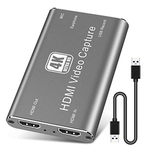 PTN Tarjeta Captura HDMI, USB 3.0 Dispositivo Captura Audio y Video...