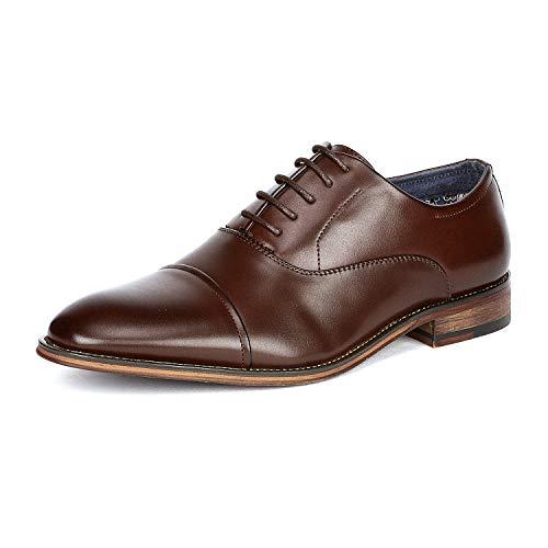 Bruno Marc Men's Dark Brown Lace Up Soft Cap-Toe Oxfords Formal Dress Shoes...