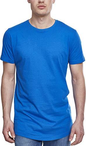 Urban Classics Herren Shaped Long Tee-Tb638 T-Shirt, Blau (brightblue), L