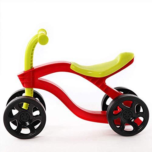 HFJKD 4 wielen Kinder Push Scooter Loopfiets Walker Infant Scooter Fiets voor kinderen Auto's Slijtvaste buitenrit op speelgoed