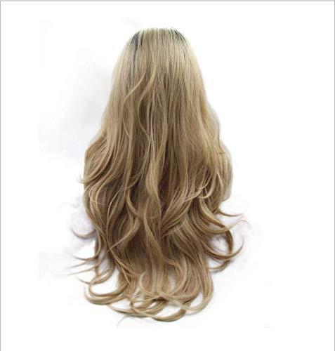 Perruque de cheveux naturels perruque naturelle longue perruque synthétique pour cheveux synthétiques bouclés résistant à la chaleur des femmes