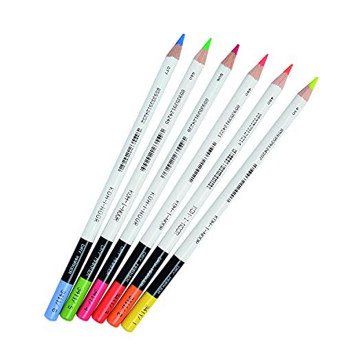 Koh-I-Noor 3415 - Evidenziatori a matita, blister con 6 colori