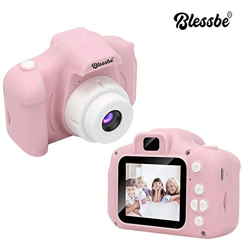 BLESSBE Kids Digital Camera, Web Camera for Computer Child Video Recorder Camera Full HD 1080P Handy Portable Camera 2.0 Screen, with Inbuilt Games for Kids (Pink) BB15