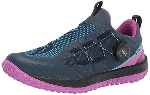 Saucony Women's Switchback 2 Trail Running Shoe, SPACE/RAZZLE, 10 Medium