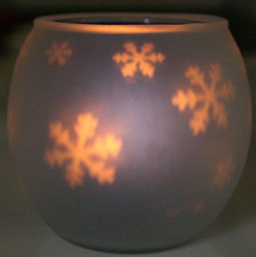 シルエット・ゆらゆらキャンドルグラスホルダーランプ 雪・キャンドルナイト・明かり絵に