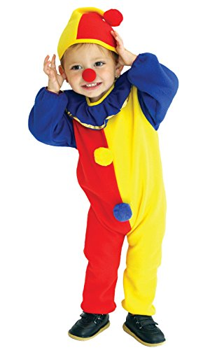 Agares Kleinkind Clown Kostüm Zirkus Clown Kostüme für Halloween Karneval Fasching Cosplay Overall mit Hut (5-6 Jahre)