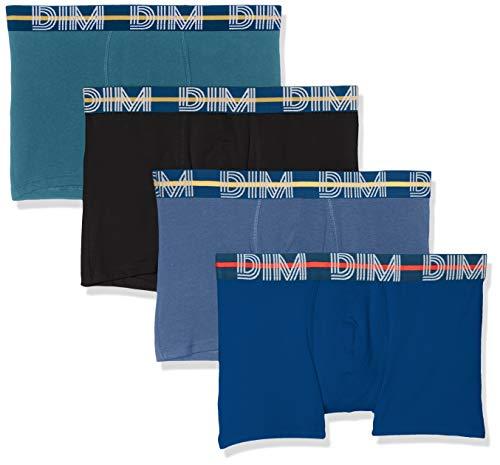 Dim BOXER POWERFUL X4 bain, Multicolore (Bleu Jacinthe/Vert Viride/Noir/Bleu Antique 9hh), Medium (Taille fabricant:3) (lot de 4) Homme