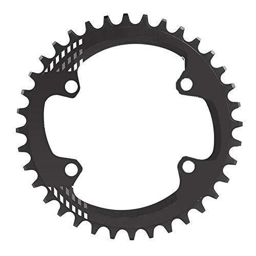 Alomejor Fahrradkettenblatt BCD 96MM schmales breites Kettenblatt-Einzelkettenring für Shimano M6000 M7000 M8000(32T-Schwatz)