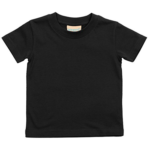 Larkwood- Camiseta de manga corta de cuello redondo para bebé (12-18 meses/Negro)
