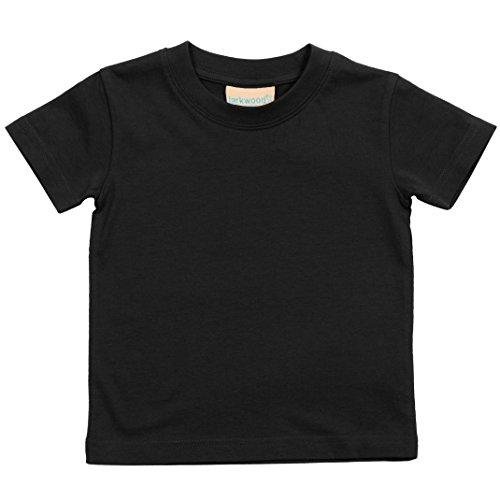 Larkwood Baby T-Shirt mit Rundausschnitt (12-18 Monate) (Schwarz)