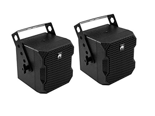 Omnitronic BOB-4 Top 16 Ohm schwarz 2 Stück | 16-Ohm-Lautsprecherpaar mit 4