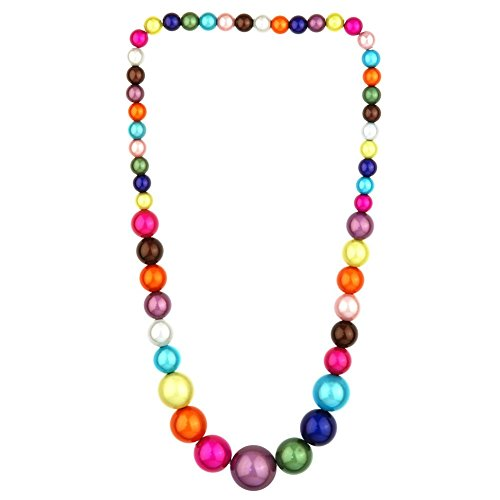JOE COOL Necklace Multi-Coloured Graduated Magic Beads Elasticated Made with Resin