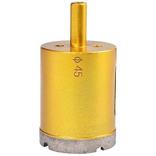 KATUR 45mm Dia Diamond Hole Saw Drill Bit, Slate Porcelain Marble Hollow Core Drill Bit for Glass, Ceramic, Porcelain, Tile, Marble, Granite (45mm Diameter)