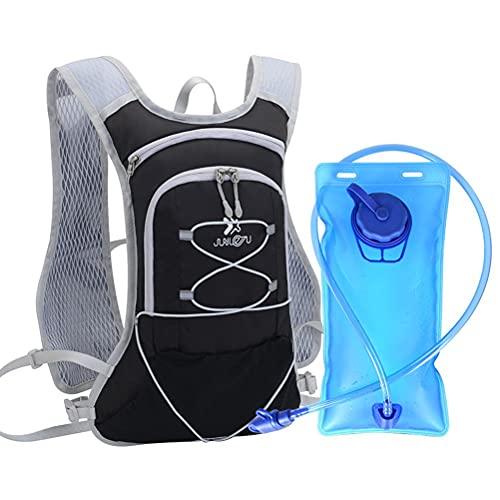POXIAO Mochila de hidratación, Bolsa de Agua Mochila con Paquete de hidratación de 2L Vejiga de Agua Senderismo Mochila Mochila de Ciclismo Escalada Camping Correr Bolsas