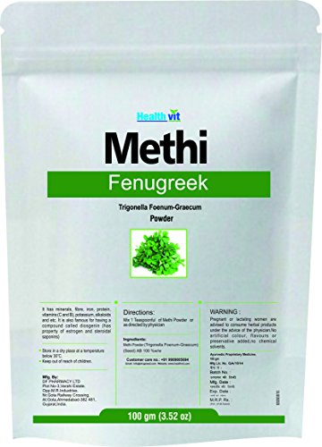 Healthvit Natural Fenugreek (Methi) Powder 100g