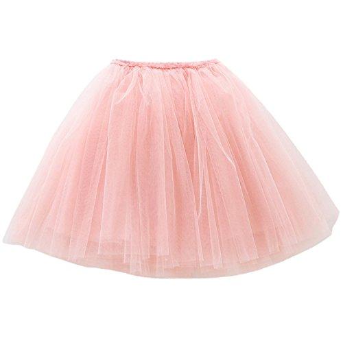 Happy Cherry - Falda Tutu con Capas de Danza Ballet Fiesta para Niña Princesa 100cm 2-3 Años - Rosa