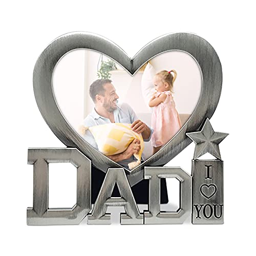 Dad Picture Frame Handmade Papa Photo Frame Ornaments Dad Photo Clip, Gift for the First Day of Father's Day (B)