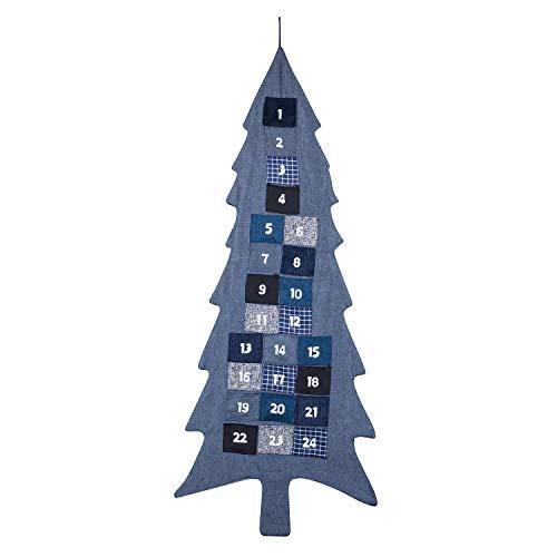 XXL Adventskalender zum Befüllen Weihnachtsbaum aus Stoff zum Aufhängen Weihnachten, Weihnachtskalender DIY von pajoma