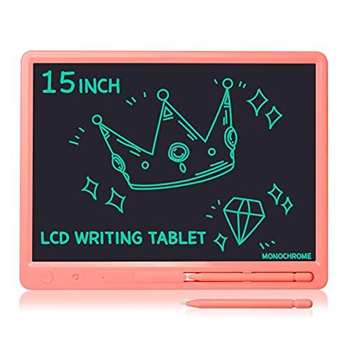Tablero de dibujo 15 pulgadas Gran pantalla grande Talla LCD Tableta Aprendizaje Aprendizaje Aprendizaje Educación Tablero Memo Adultos Negocio Niños Niños Dibujo Juguetes ( Color : Single Pink )