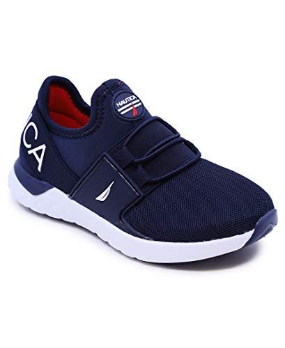 Nautica Zapatillas deportivas deportivas para correr, sin cordones, para niños y niñas, para niños (niños grandes/niños pequeños) - Neave/Kappil, malla azul marino, 20 MX...