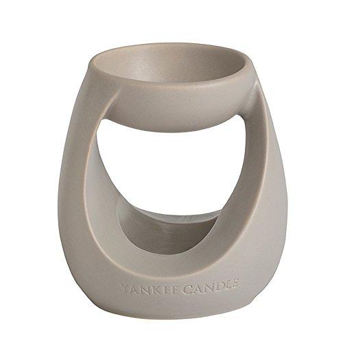YANKEE CANDLE 1317190 Turning Stone Bruciatore per Tart, Ceramica, Grigio, 11.7x11.8x13.4 cm