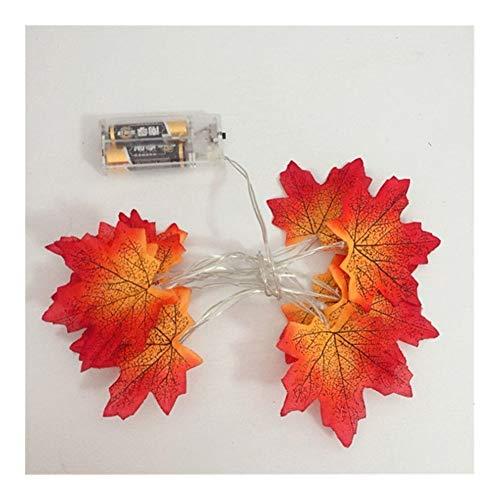 Bhuatk 1,5M 10LEDs Hojas de Arce Cadena Hoja luz Luces de Navidad Garland Luces Decorativas Flores Artificiales Led Luces Decoración (Emitting Color : A)