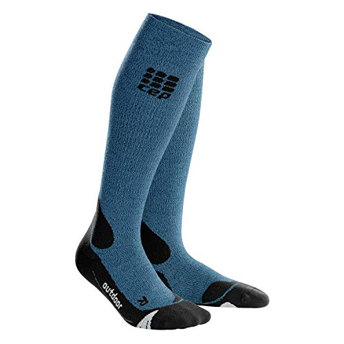 CEP Damen Pro+ Outdoor Merino Socken, Desert Sky/Black, III